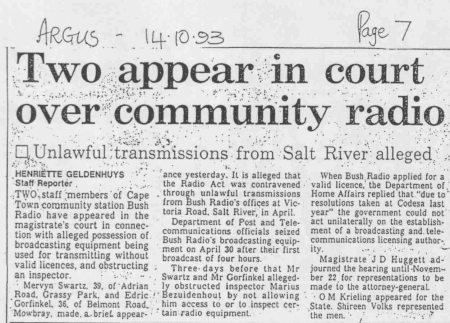 two appear in court over community radio