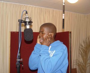Finding a voice to the dream: A Gugulethu Youth Radio trainee tries out the drama studio