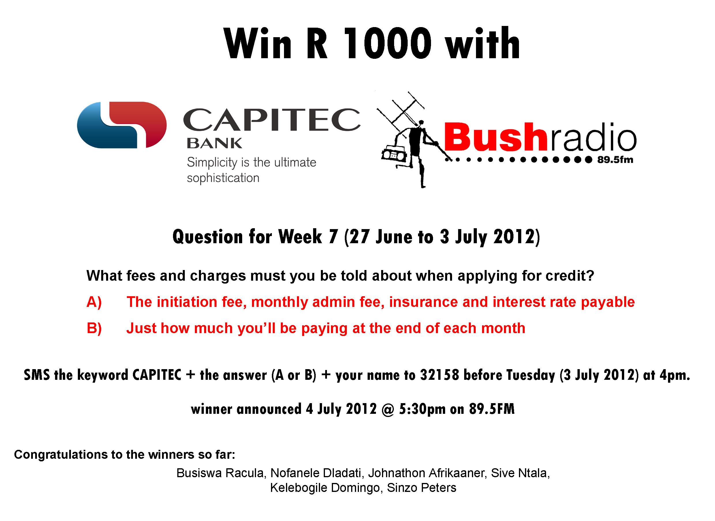 capitec bank | Bushradio 89.5 FM2480