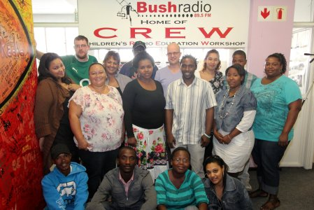 Some of the Bush Radio team with Paul and Stephen
