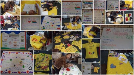 Some of the MKK2013 t-shirts and posters on display