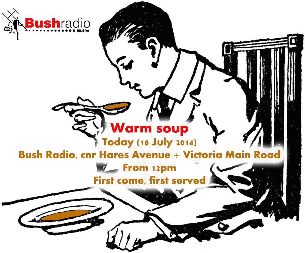bushman eat soup copy