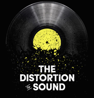 distort of sound logo
